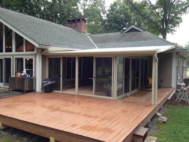 Patio Enclosures Sunroom - Rustic - Patio - Newark on Backyard Patio Enclosure Ideas  id=66082