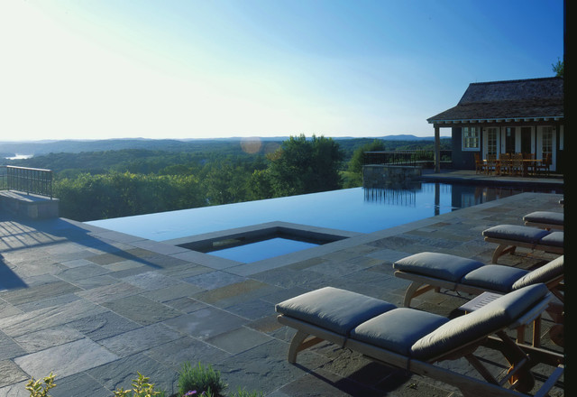 Infinity Edge Pool Farmhouse Pool New York By HARRIS Landscape Architecture