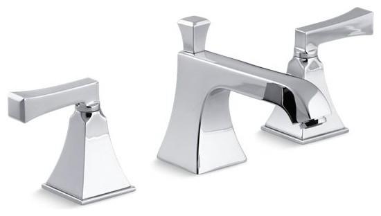 kohler memoirs stately widespread bathroom faucet polished chrome