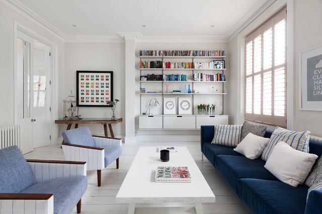 Notting Hill flat contemporain-salon