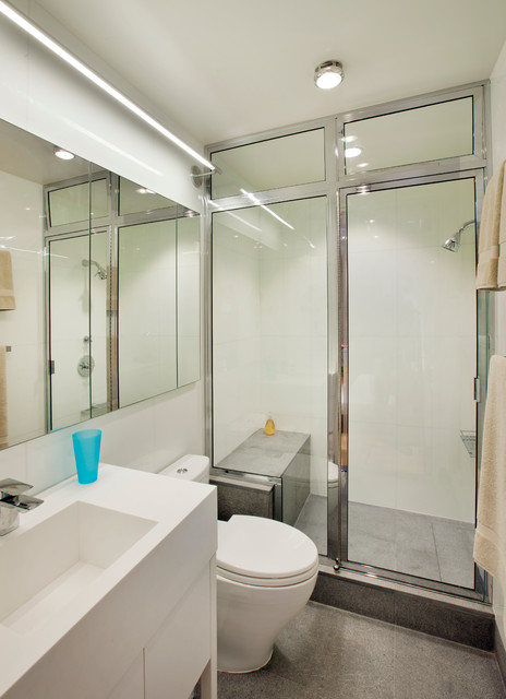 Micro-apartment contemporary-bathroom