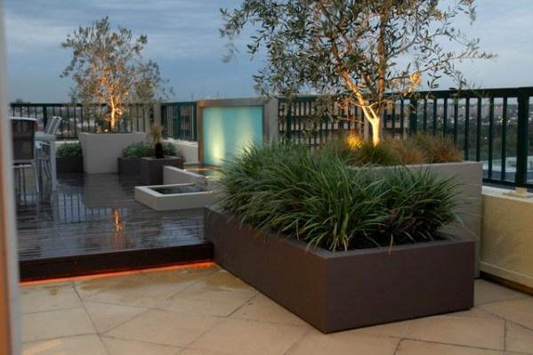 contemporary garden planters Planter boxes