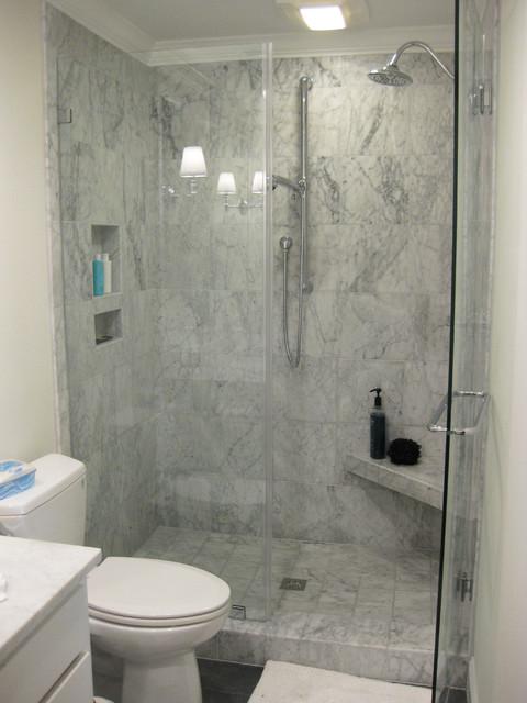 Marble Bathroom Shower Glass Traditional Bathroom