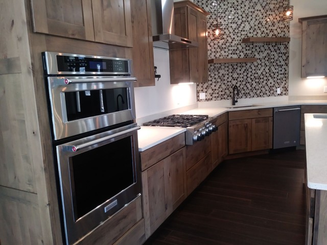 Rmser laylapalmer gives her cheap oak kitchen cabinets an upscale look by adding molding to the top and paint. Kraftmaid Cabinetry - Rustic - Kitchen - Chicago - by Von ...