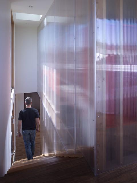 Polycarbonate Wall Modern Staircase San Francisco