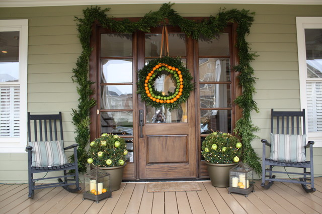 Holiday Home Tour traditional-porch