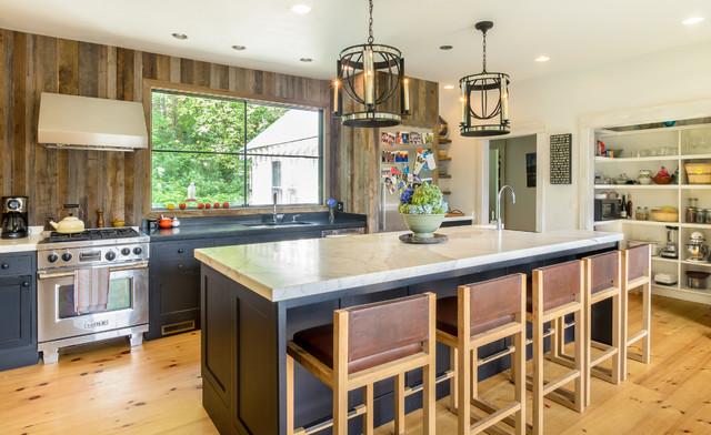 Rustic Modern Farmhouse Kitchen - Farmhouse - Kitchen ... on Rustic Farmhouse Kitchen  id=21951