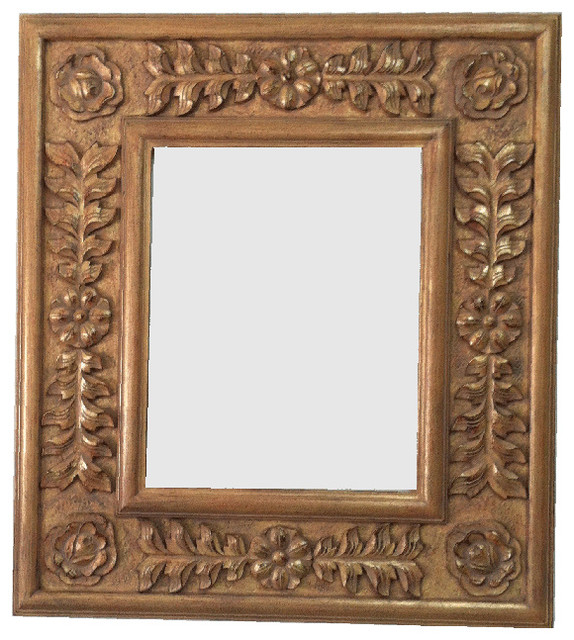 Decorative French Mirror Frame Solid Carved Wood