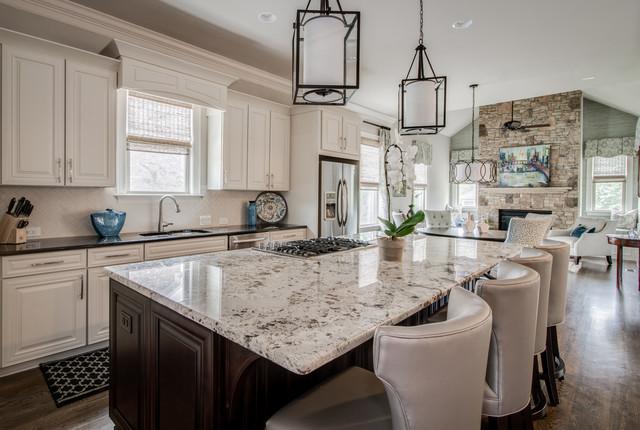 Weddington Open Concept Floor Plan Kitchen Dining Hearth