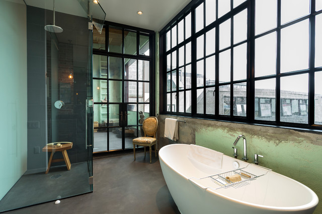 Urban Loft industrial-bathroom