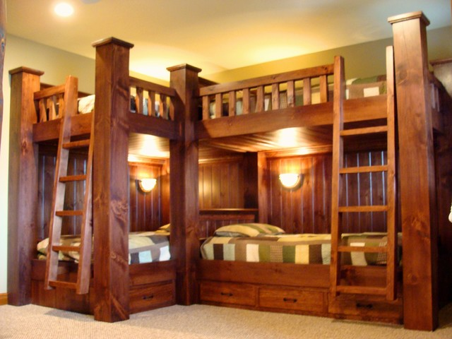 Bunk Beds Rustic Kids New York By Adirondack