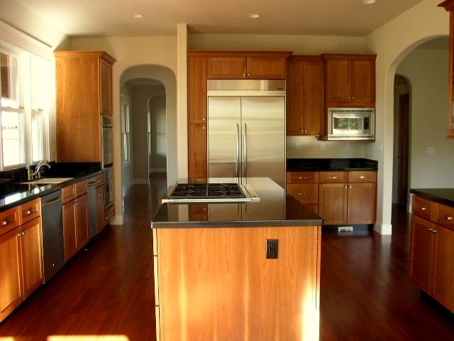 Kitchen with Absolute Black granite countertops ... on Black Granite Countertops Kitchen  id=32953