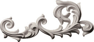Victorian Flourish Scroll Wall Decoration, Left Large