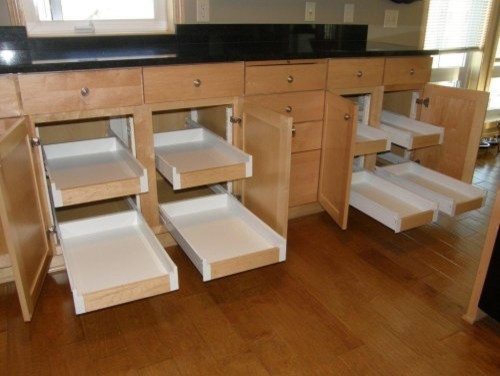 Kitchen Organization-Pull Out Shelves