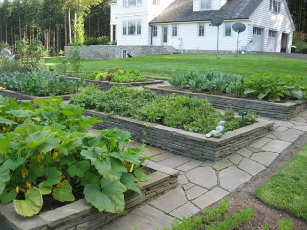 rock raised garden bed ideas Raised Stone Garden Beds - Traditional - Landscape