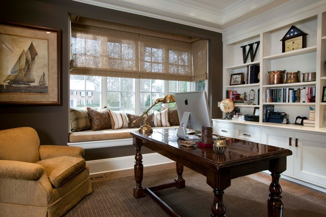 Garden City, New York traditional-home-office