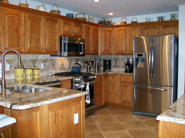 Granite Countertops and Tile Backsplash Ideas - Eclectic ... on Granite Countertops With Backsplash Ideas  id=56531
