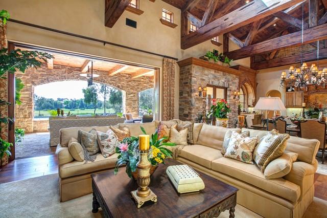 Luxury Indoor-Outdoor Living Room Design in Rancho Santa ... on Fancy Outdoor Living id=79014