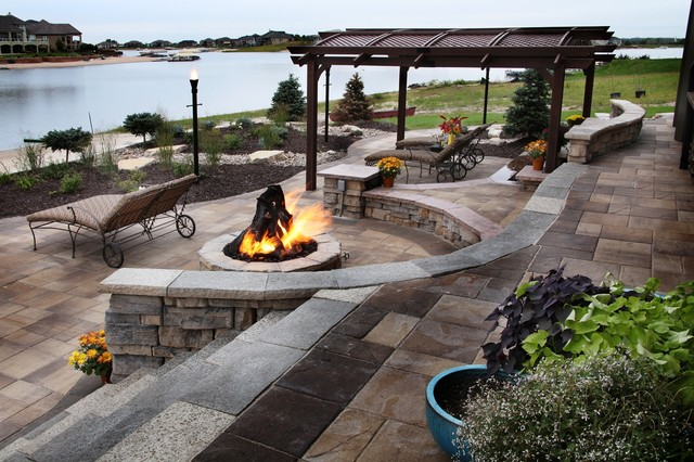 Lakefront Property - Traditional - Patio - omaha - by ... on Lakefront Patio Ideas id=47991