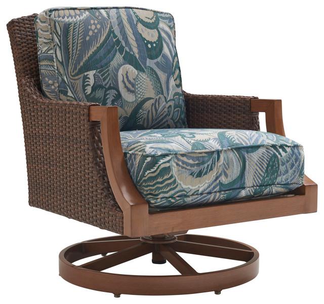 tommy bahama harbor isle patio swivel rocker lounge chair in green