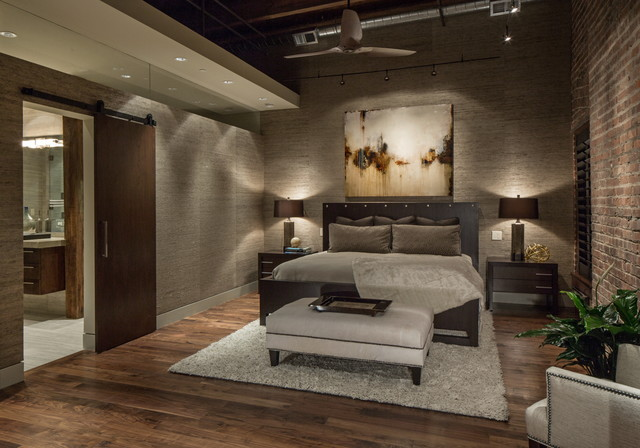 Downtown Penthouse Contemporary Bedroom Omaha By