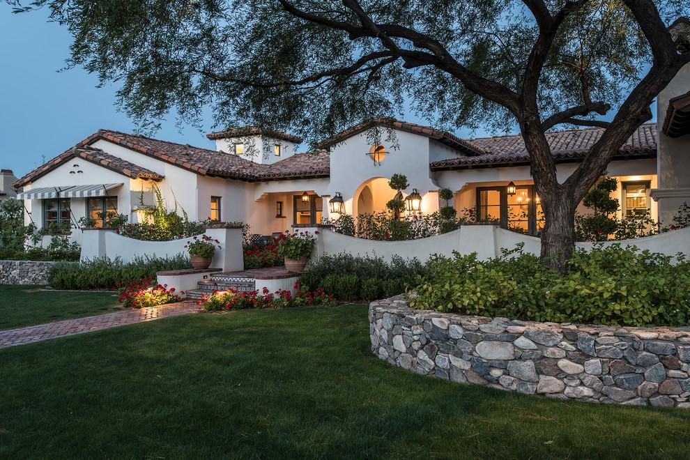 Arcadia Spanish Colonial | Front Yard - Traditional ... on Arcadia Backyard Designs id=29543