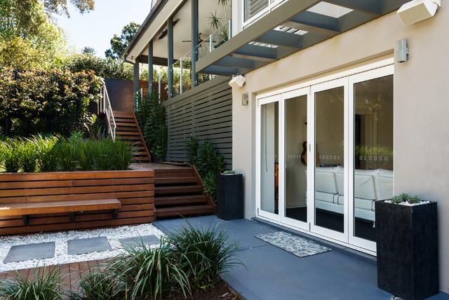 Backyard Entertaining Area - Contemporary - Patio - Sydney ... on Houzz Backyard Patios  id=99656