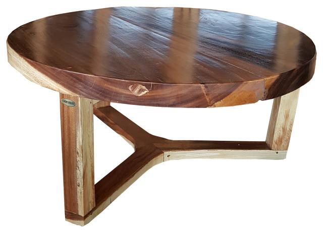 suar live edge round coffee table 40