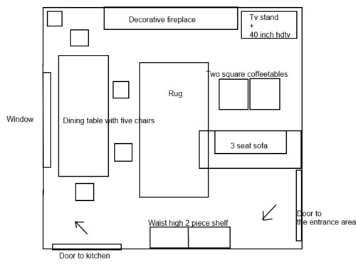 How To Arrange Furniture In A Living Room With Wall Of