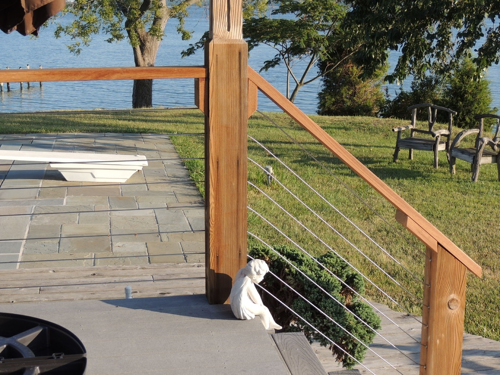 Stainless Steel Cable Railing Systems Modern Deck Portland | Stainless Steel Outdoor Stair Railings | Horizontal | Balcony 4X10 | Metal | Black | Hand
