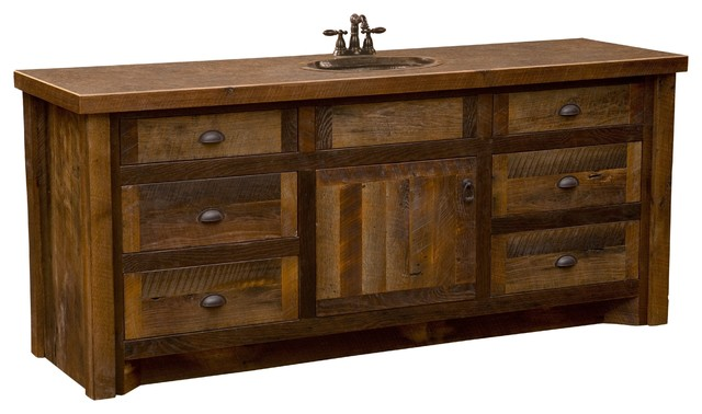 barnwood vanity without top 72 sink center