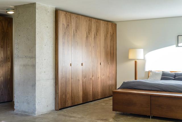 Walnut IKEA Closet Contemporary Bedroom New York