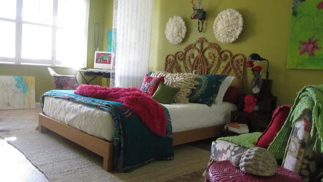 Boho Eclectic Bedroom Miami