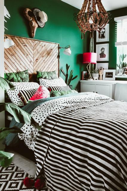 Naturalmente è possibile pitturare le pareti della vostra camera da letto in diversi modi possibili. 9 Pareti Verdi Che Rendono Elegantissima La Camera Da Letto