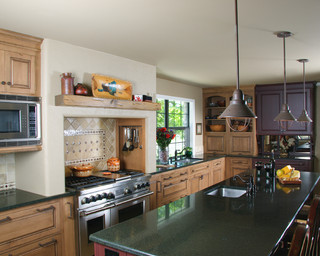 RanchFort Worth Rustic Kitchen Dallas By The