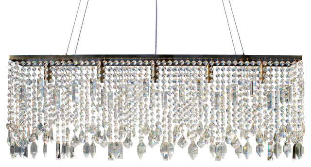 40 Sofia Glass Crystal Rectangular Chandelier Antique Brass Contemporary Chandeliers