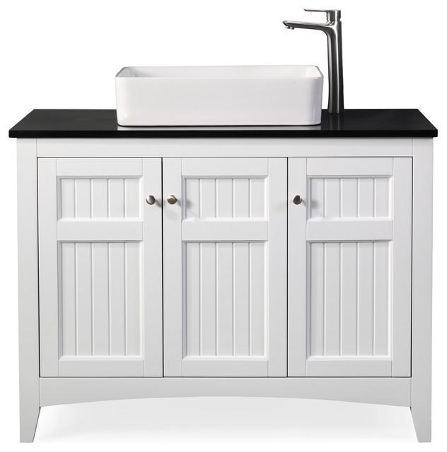 42 thomasville white vessel sink bath vanity