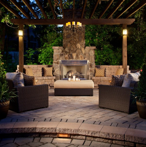 outdoor living space ideas for patios Past Projects - Traditional - Patio - Charlotte - by