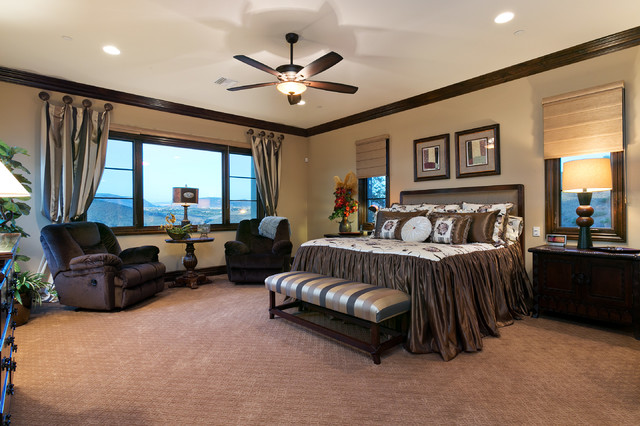 spanish style estate - master bedroom - traditional - bedroom