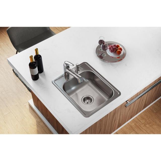 d117213 dayton stainless steel 17 x 21 1 4 drop in bar sink 3 holes