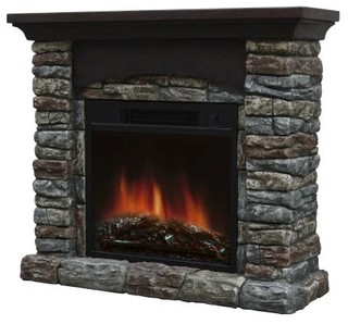 Breckin Electric Fireplace Rustic Indoor Fireplaces By Shop Chimney