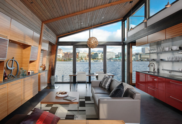 Dyna - Portage Bay industrial-living-room
