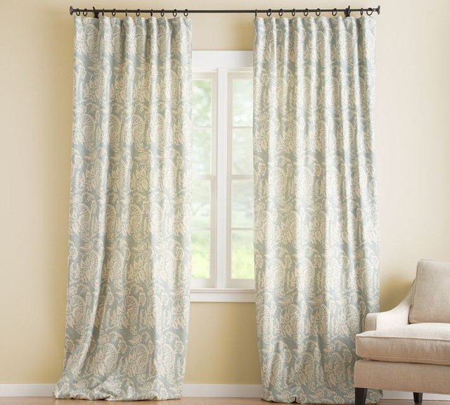 Alessandra Floral Drape With Blackout Liner Contemporary Curtains By Pottery Barn