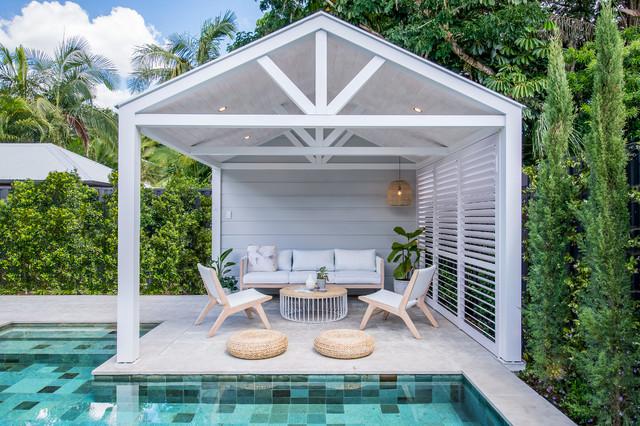 Geometric Pool & Cabana - Coastal - Patio - Brisbane - by ... on Small Pool Cabana Ideas id=91976