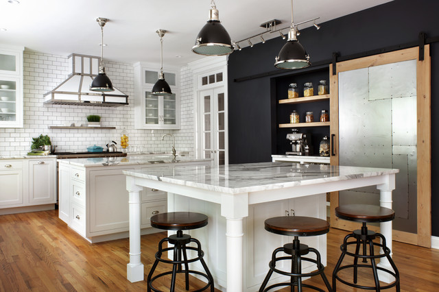 Kitchen Of The Week French Industrial Style In Black And White