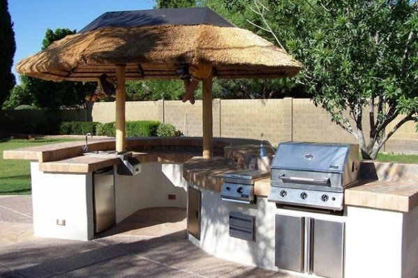 tropical patio outdoor kitchens Outdoor Kitchens & BBQ