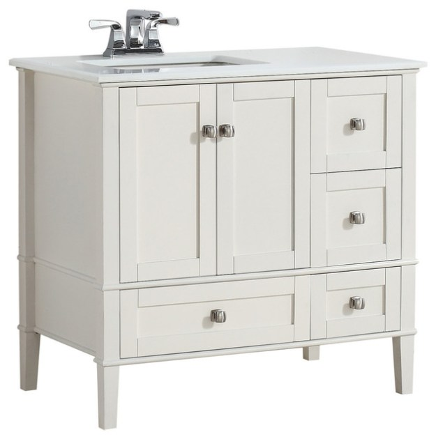 "nimbus vanity, 37"" - transitional - bathroom vanities and sink"