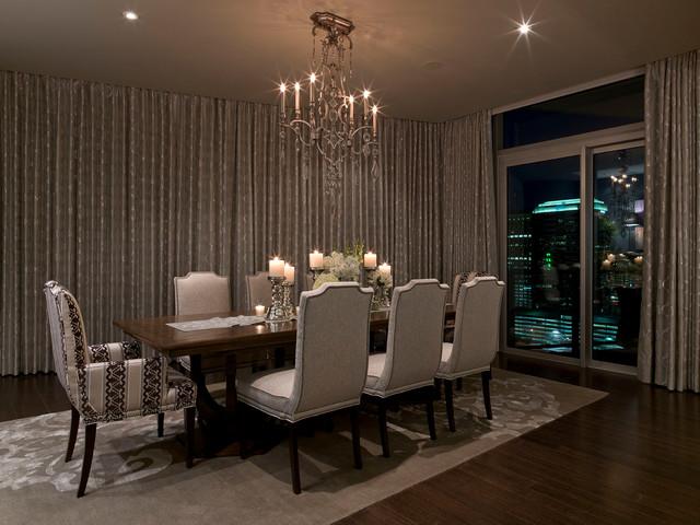 Austonian Luxury Condo Contemporary Dining Room Austin By Bravo Interior Design