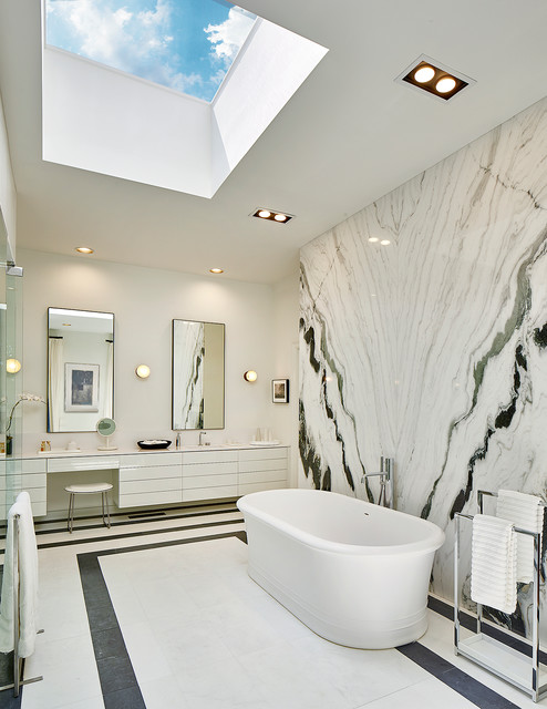 Marble Walls modern-bathroom