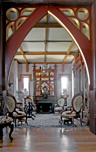 Gothic Style Home Traditional Living Room Miami By